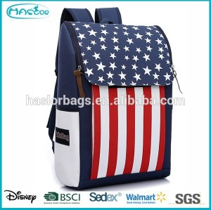 Customize Lightweight US Flag School Bags for Teenagers