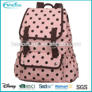 Wholesale fashion black and white polka dot backpack for school girls