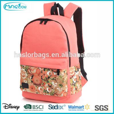 2015 hotstyle nouvelle conception fleur motif jolie sacs à dos pour les filles