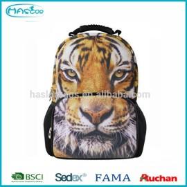 Personnalisé 600D polyester fishion tête de tigre à dos
