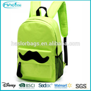 Lovely pattern and wholesale custom mustache backpack with high capacity