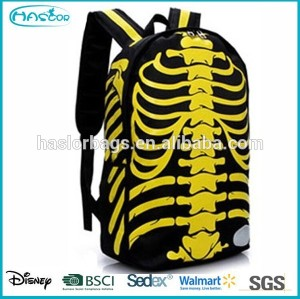 Creative custom design personalized backpack with skeleton