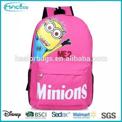 Custom despicable me minion school bag backpack