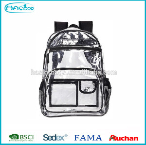 2015 Wholesale custom transparent pvc backpack with hot style