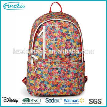 Nouveau design gros toile motif floral sac à dos pour filles