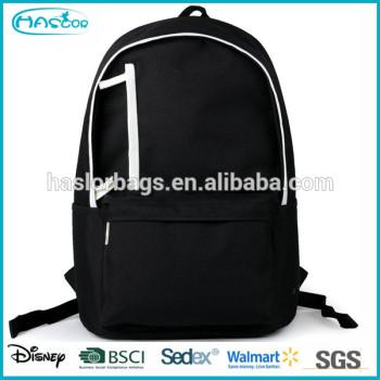 Custom gros durable toile plaine noir sacs à dos pour le lycée