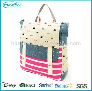 2015 Hot Selling New Style Fancy Canvas School Bag ,Tote Canvas bag