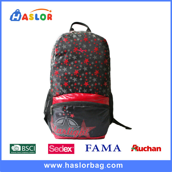 Custom Star Picture Backpack Bag for Leisure or Sports Bag for Girl