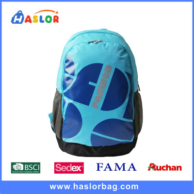 Fashionable Blue Color Lightweight Outdoor Leisure Backpack Rucksack Bag