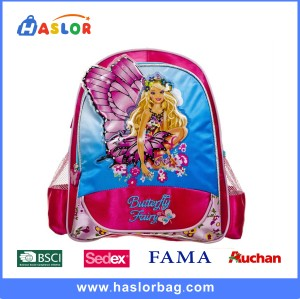 2016 BSCI Factory Wholesale Children School Bag Backpack for Girls