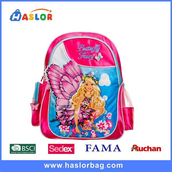 2016 China Cheap Wholesale Children School Bag Factory BSCI  Backpacks For Girls