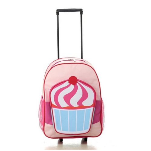 Cute Baby Wheeled Backpack with Detachable Trolley