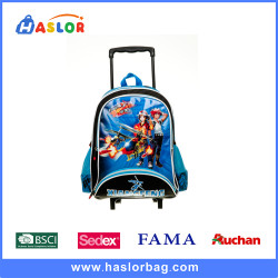 2016 Custom Printing Child Backpack With Wheels For Students