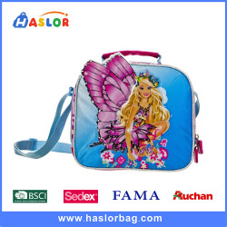 Cute Girls Use Messenger Bags Typically for Primary School