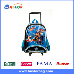 Bright Blue and Practical Cartoon Children Backpacks with Custom Printing