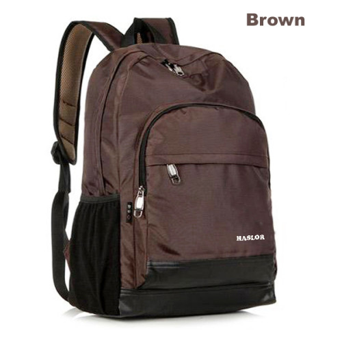 Simple Style Brown Nylon Men Backpack bag from China Manufacturer