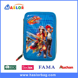 Boy Cartoon Printing School Child Pencil Bags for Kids
