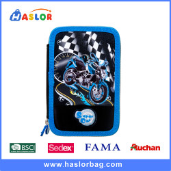 Primary School Student Two Compartments Pencil Case for Boys