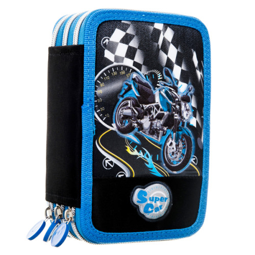 Stylish Pencil Case for Boys with Zipper Image Printing