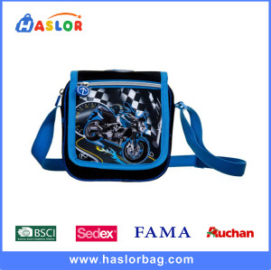 Blue and Black Cartoon Primary School Shoulder Messenger Bag