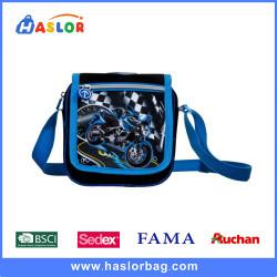 Blue and Black Cartoon Primary School Shoulder Messenger Bag