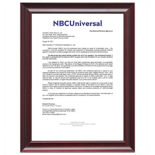 NBCUniversal Conditional Factory Approval