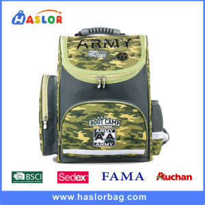 2017 Durable Handle Boy Camouflage Ergo School Bag