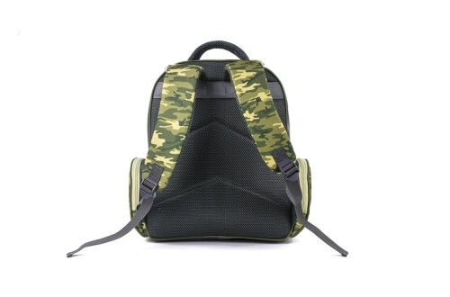 Camouflage School Backpack with Webbing Handgrip in Army Green