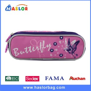 2017 Hot Sale Trendy Beautiful Butterfly Calico Pattern Pencil Bags for Girls