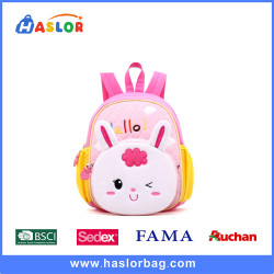 Trendy cartoon animal design kids backpack school bags lightweight toddler backpack