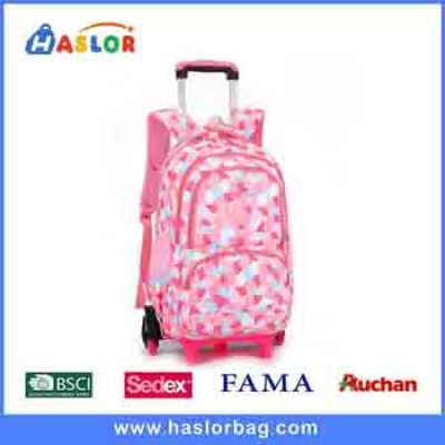 Waterproof Kids Canvas Gift Cotton Trolley Backpack School Bag