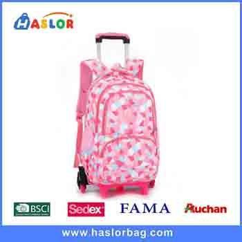 Waterproof Kids Canvas Gift Cotton Trolley Backpack School Bag