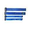 Chinese wholesale suppliers factory price blue logo custom magic tape buckle strap