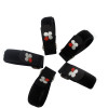 New style adjustable self-gripping  black logo custom linear elastic velcro strap