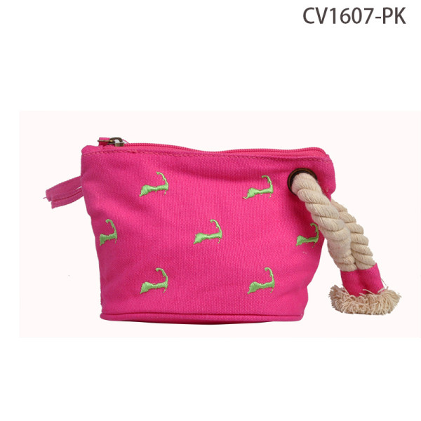 Fashion Design Ladies Canvas Cosmetic Bag Factory Direct Sale