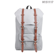 Best Selling Beige Korean Style Girls Wholesale Canvas Backpack