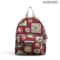 Custom Canvas Girls Backpack Bag, Wine Red Mini Backpack