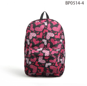 Fashion Print Day Backpack, Custom Made Laptop Backpack