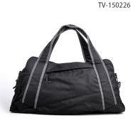 Black Travel Time Bag, Waterproof Travel Bag Men Hand Lightweight Bag