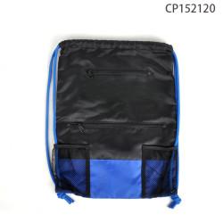 Wasserdichter Sport und Fitnessstudio Rucksack mit Netztaschen und Kordezug