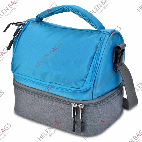 Blue Color 420D Cooler Bag Waterproof Lunch Cooler Bag Customized