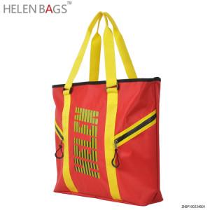 Designer fashion new bag nylon shoulder bag men's promotional sport tote bag