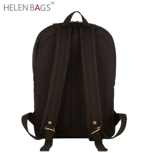 2017 Hochwertige Qualität pesonalisierte Marke unisex Schulranzen Reisetasche aus gewachsten Leinen