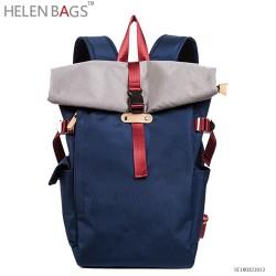 2018 último diseño casual mochila azul de escuela parker bolso de doble tirantes