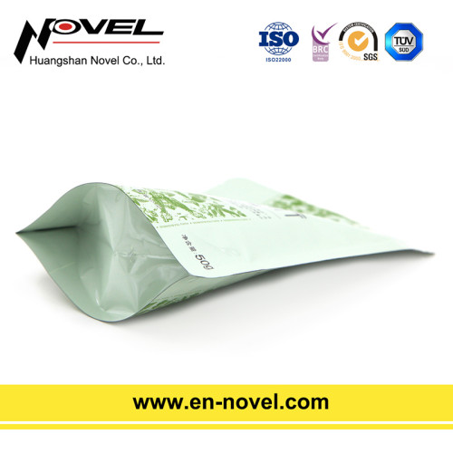 Aluminum Foil Tea Bag Stand Up Pouch with Zipper for Tea Packaging