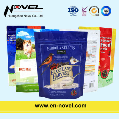 Customized Plastic Stand Up Pouch for Pet Food Packaging