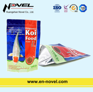 Customized Plastic Stand Up Pouch with Zipper for Fish Feed Packaging