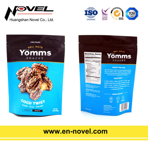 Plastic Nuts Bag Stand Up Pouch with Zipper for Nuts Packaging