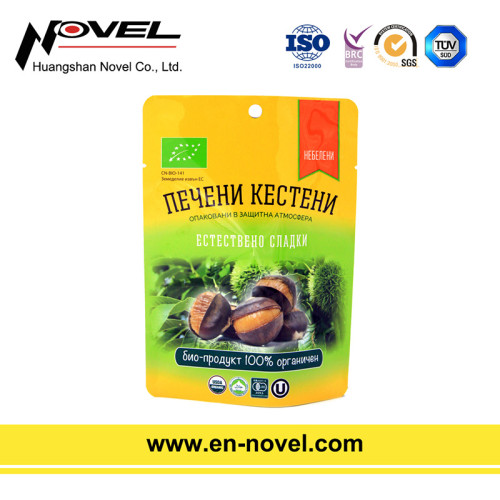 Plastic Retort Pouch Stand Up Pouch with Zipper for Chestnuts Packaging