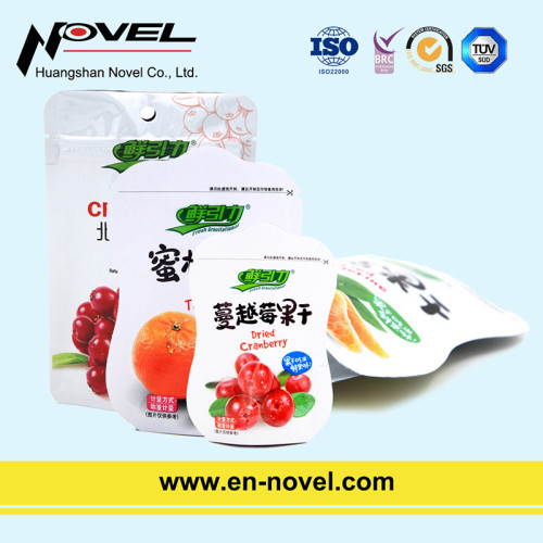 Plastic Stand Up Pouch with Zipper for Dried Fruit/Vegetable Packaging
